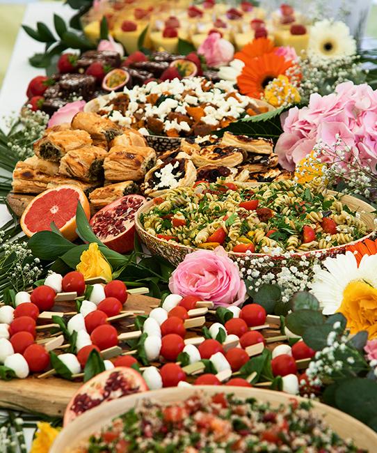 Colline's Kitchen wedding buffet