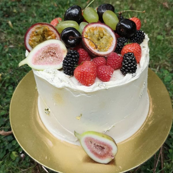 Colline's Kitchen fruit topped cake